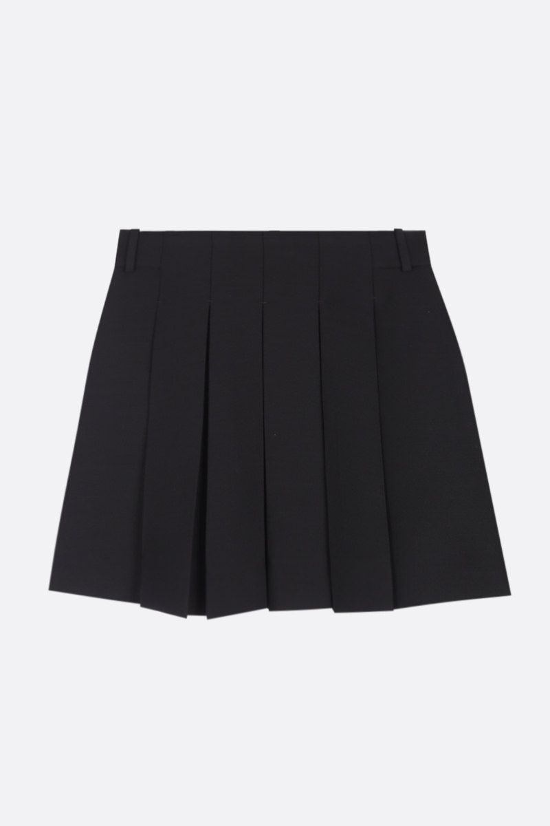 VALENTINO: Crepe Couture pleated miniskirt Color Black_1