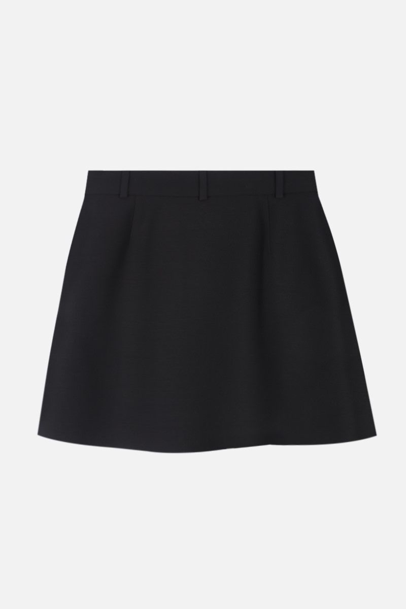 VALENTINO: Crepe Couture pleated miniskirt Color Black_2