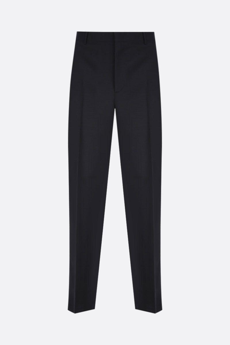 VALENTINO: regular-fit mohair and wool pants Color Black_1