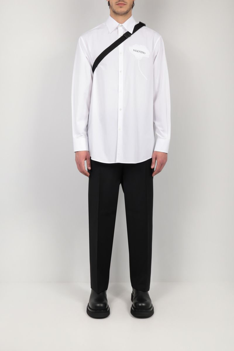 VALENTINO: regular-fit mohair and wool pants Color Black_2