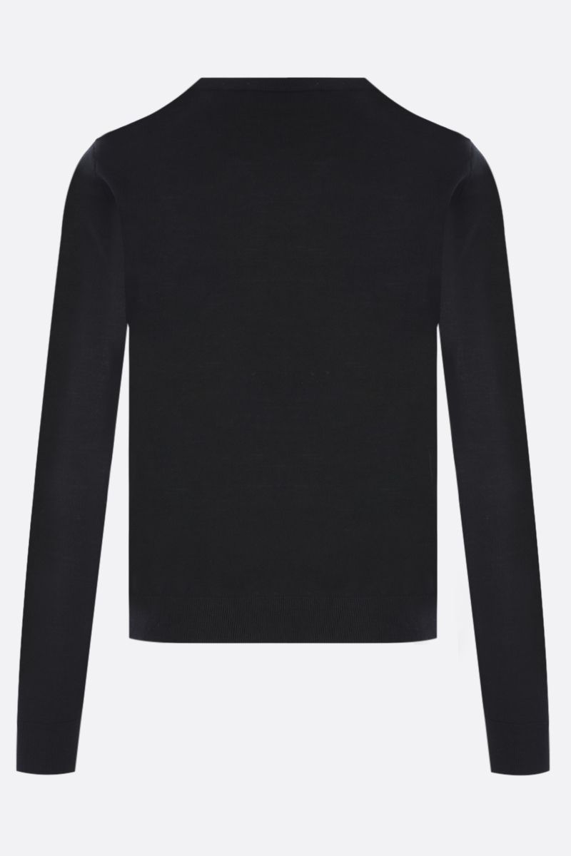 VALENTINO: lace-detailed wool pullover Color Black_2