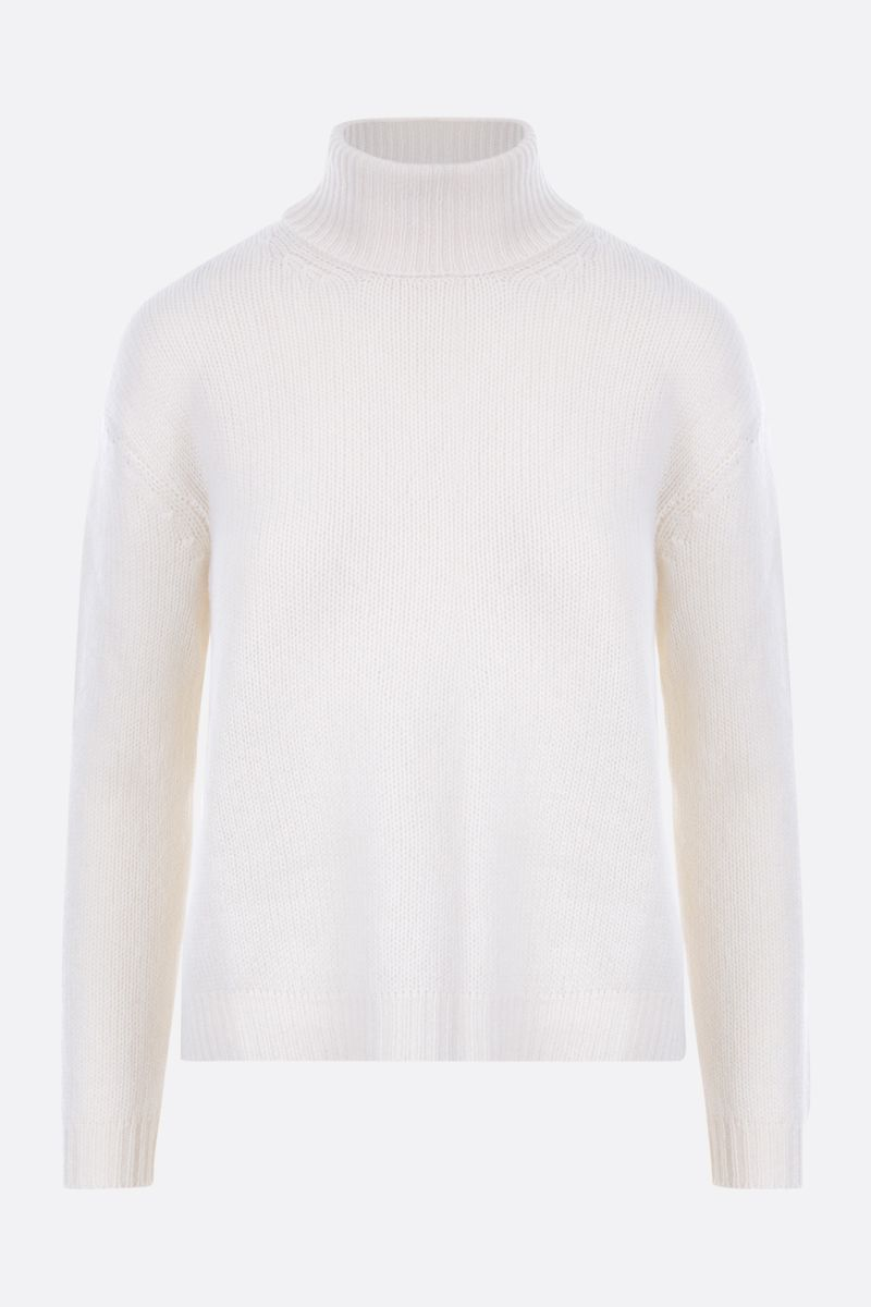 VALENTINO: logo-detailed cashmere pullover Color Neutral_1