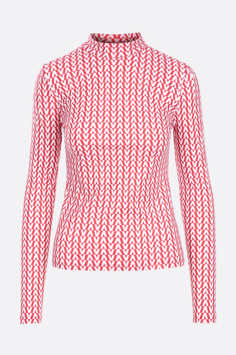 VALENTINO: Optical Valentino jersey top Color Red_1