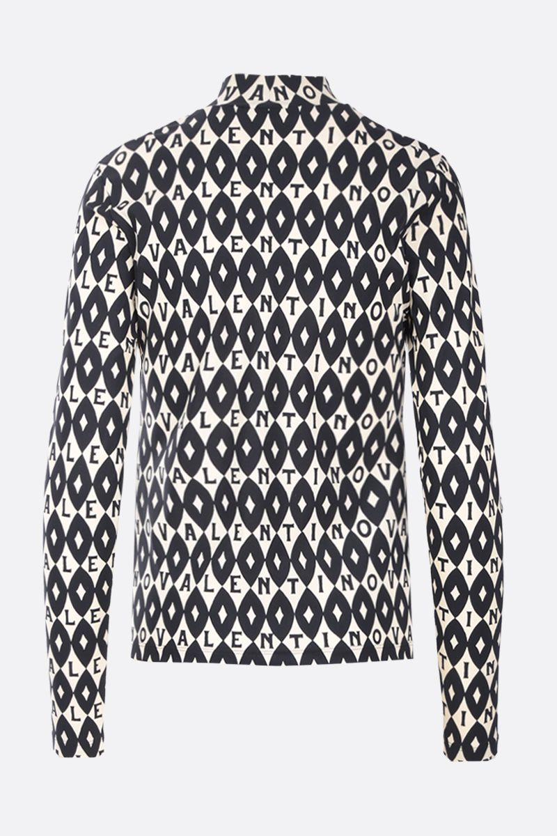 VALENTINO: Valentino Foulard Archive print jersey top Color Neutral_2