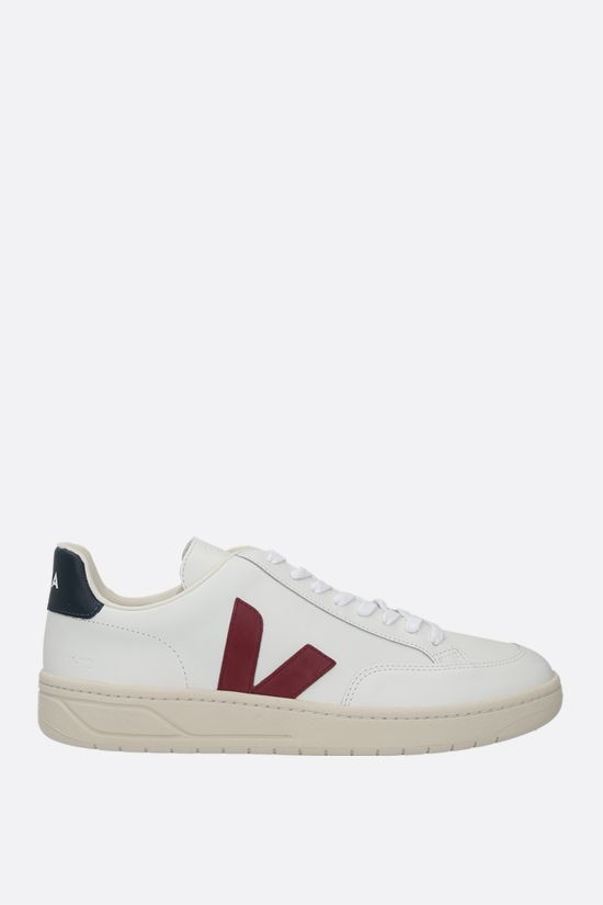 VEJA: V-12 smooth leather sneakers Color White_1