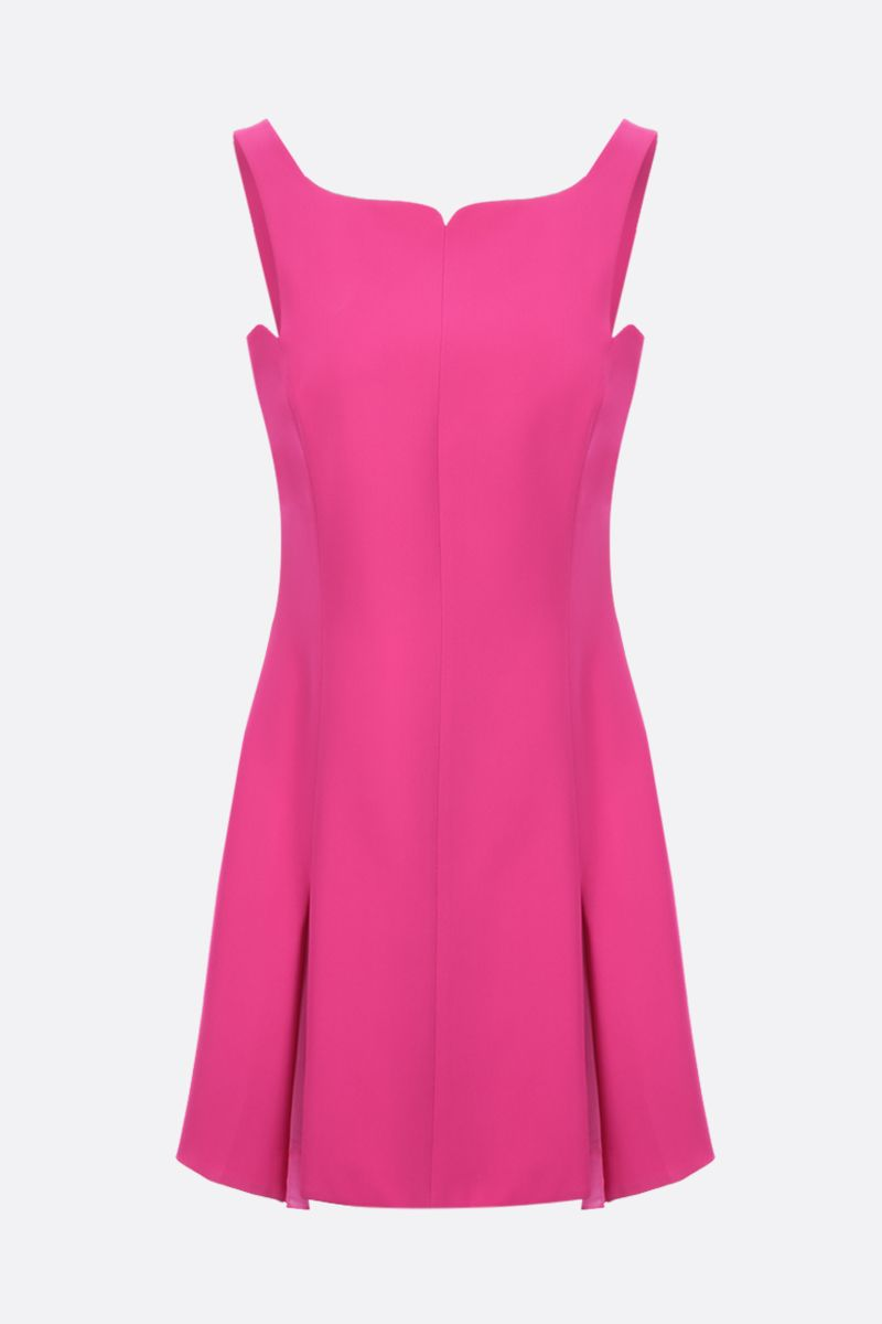 VERSACE: organza-detailed cady minidress Color Pink_1