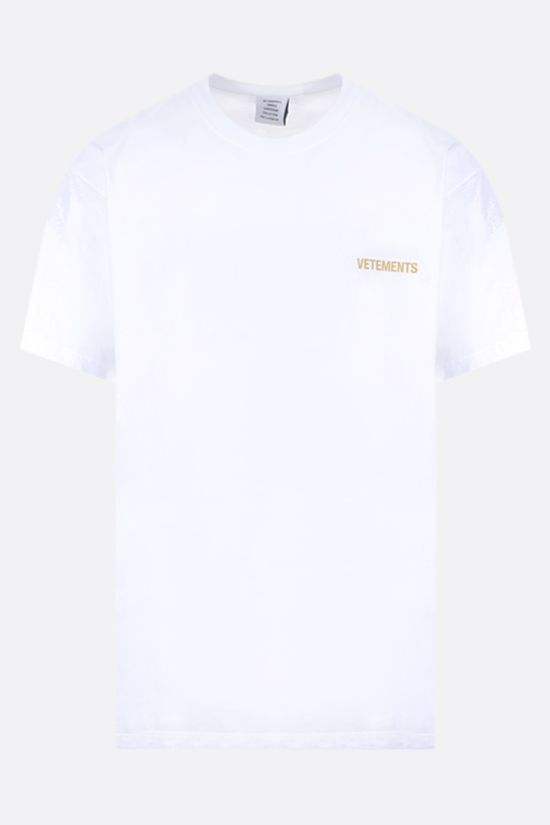 VETEMENTS: logo print cotton t-shirt Color White_1