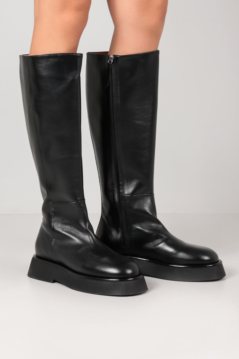 WANDLER: Rosa smooth leather boots Color Black_2