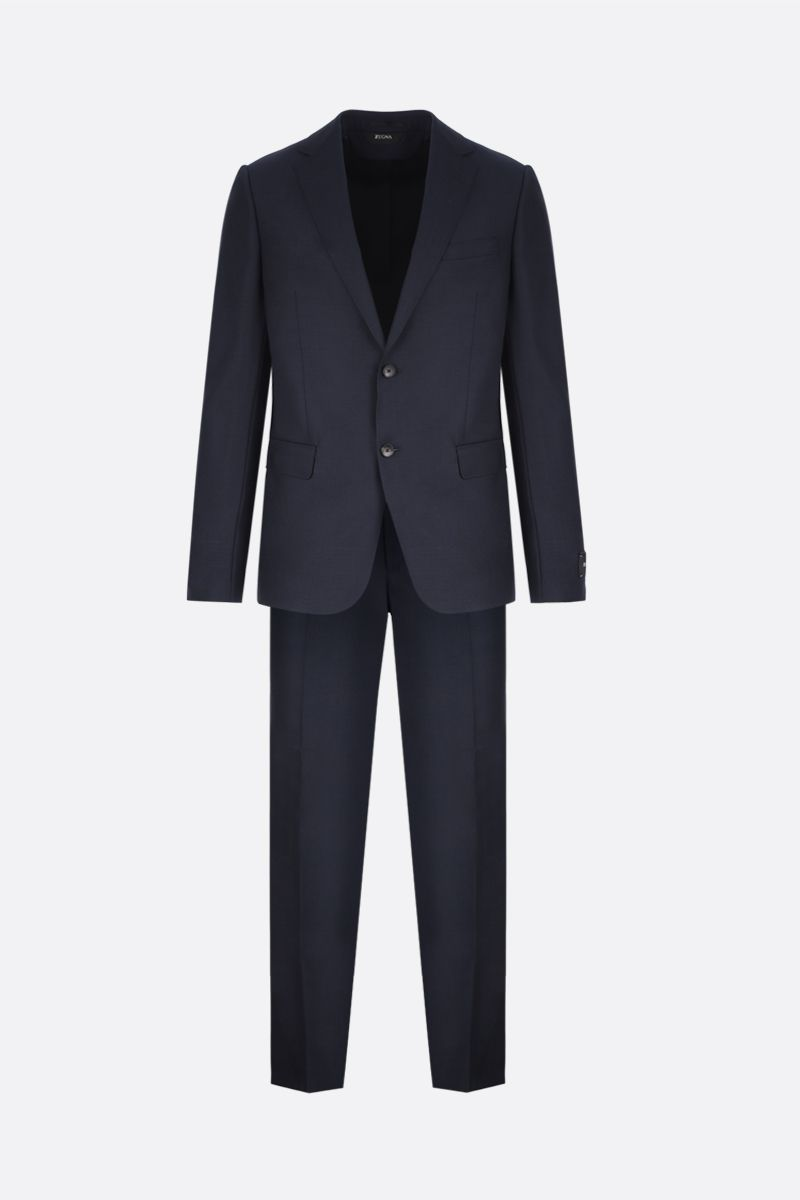 Z ZEGNA: lightweight wool two-piece suit Color Blue_1