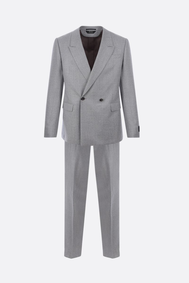 Z ZEGNA: lightweight wool two-piece suit Color Silver_1