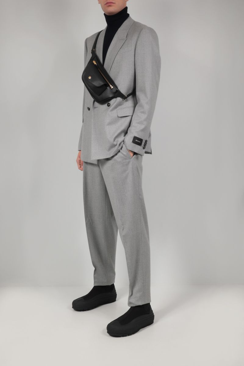 Z ZEGNA: lightweight wool two-piece suit Color Silver_2