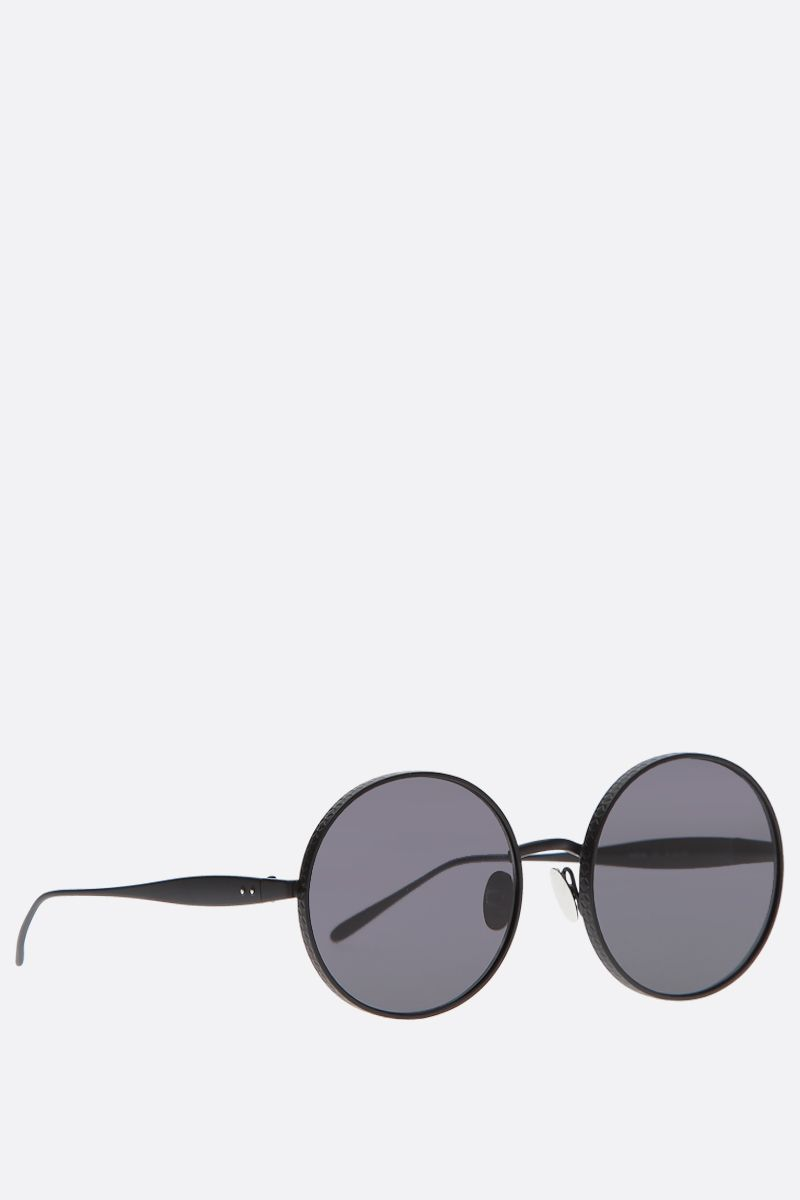 ALAIA: oval-frame metal sunglasses_2