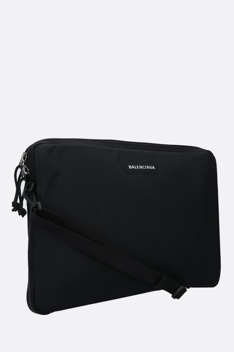 BALENCIAGA: Explorer nylon pc holder Color Black_2