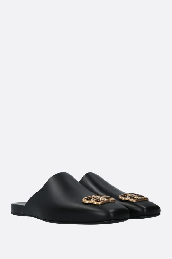 BALENCIAGA: Cosy BB smooth leather mules Color Black_2