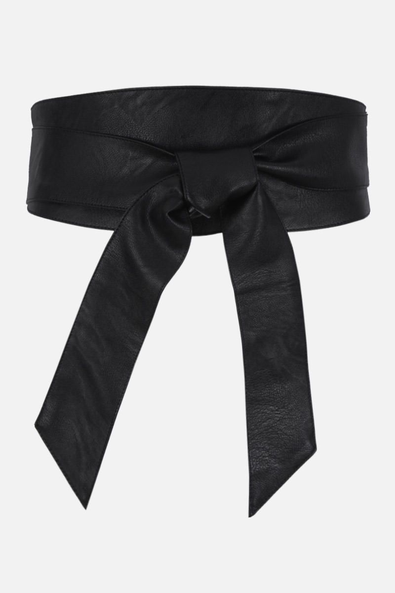 FEDERICA TOSI: faux leather sash Color Black_1