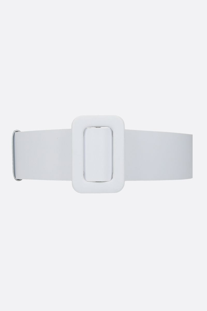 FEDERICA TOSI: smooth leather waist belt Color White_1