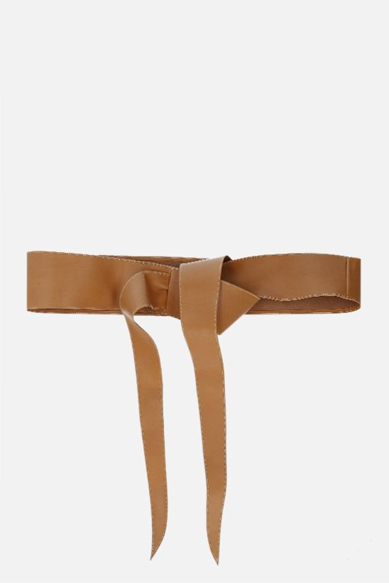 FEDERICA TOSI: soft leather sash Color Brown_1
