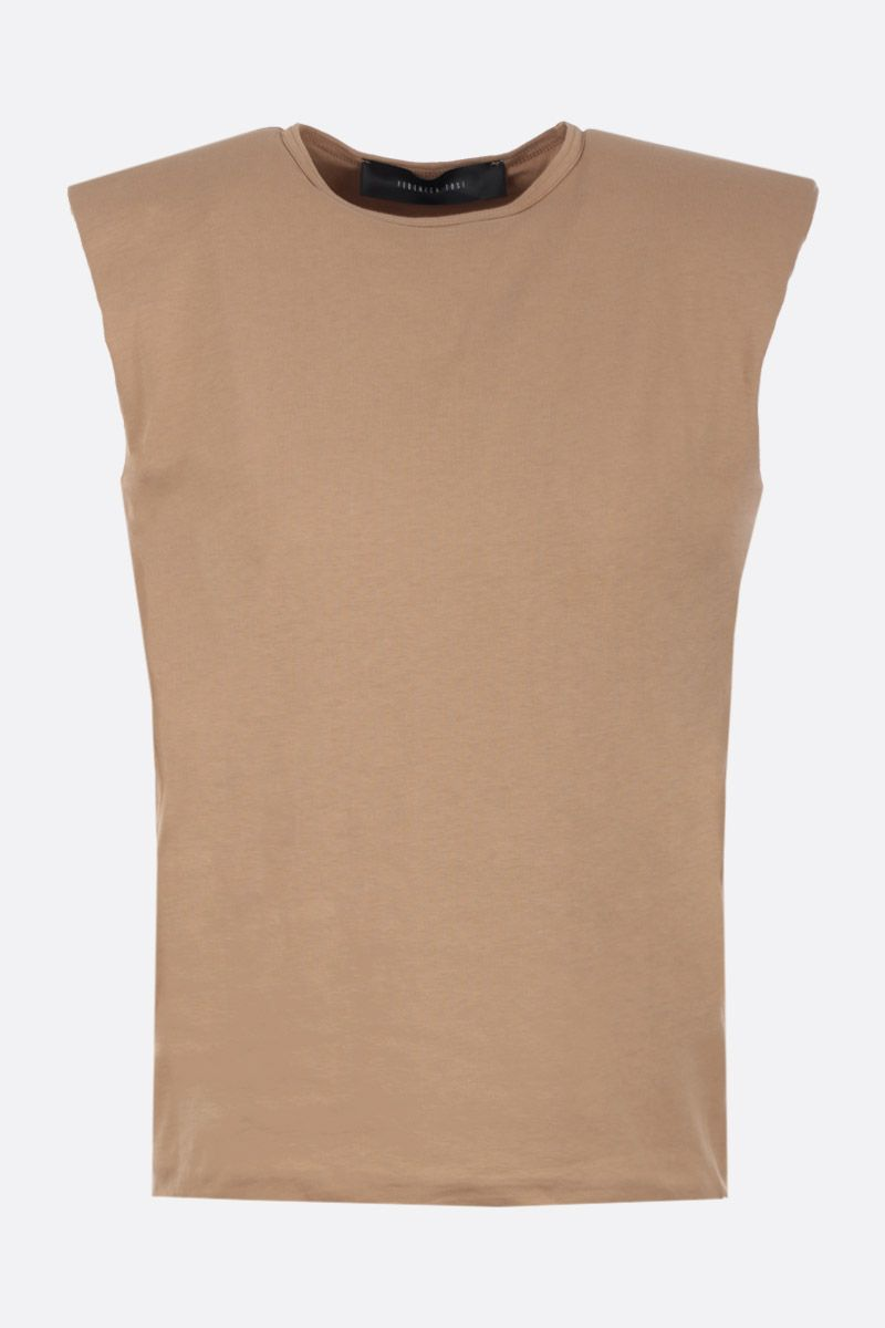 FEDERICA TOSI: cotton sleeveless t-shirt Color Neutral_1