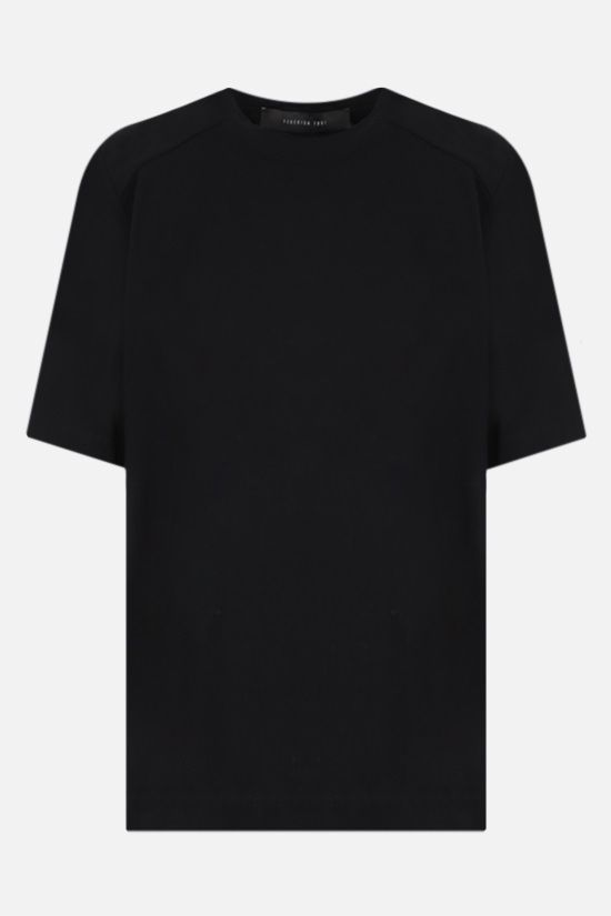 FEDERICA TOSI: shoulder pads cotton t-shirt Color Black_1