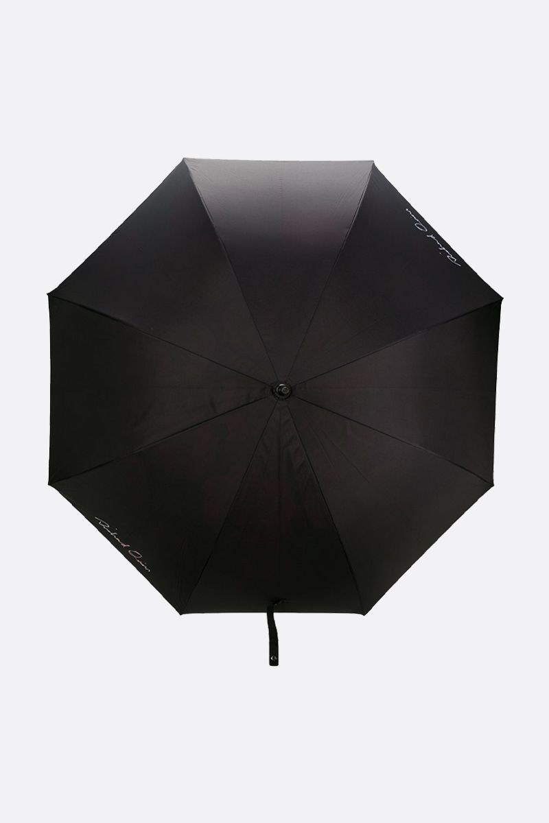 RICHARD QUINN: Richard Quinn print nylon umbrella Color Black_1