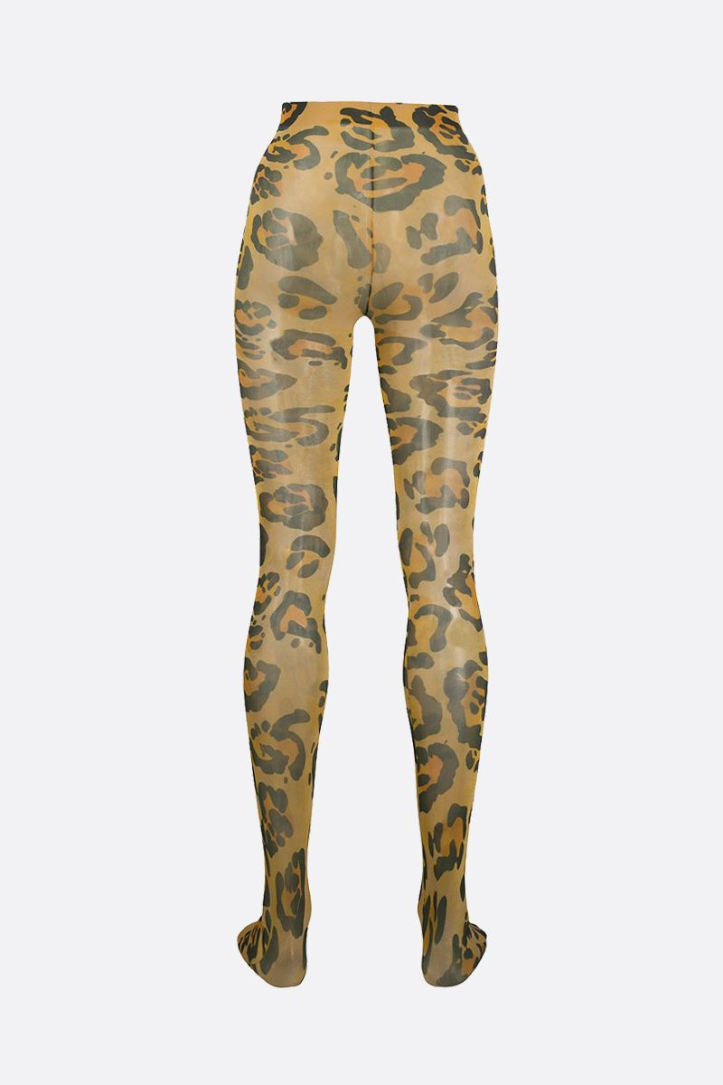 RICHARD QUINN: leopard print nylon tights Color Animalier_2