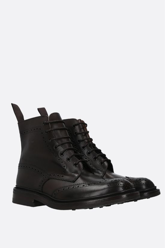 TRICKER'S: Stow shiny leather country boots Color Brown_2