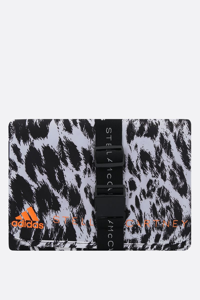 ADIDAS BY STELLA McCARTNEY: beauty case adidas by Stella McCartney in nylon stampa leopardo Colore Nero_1