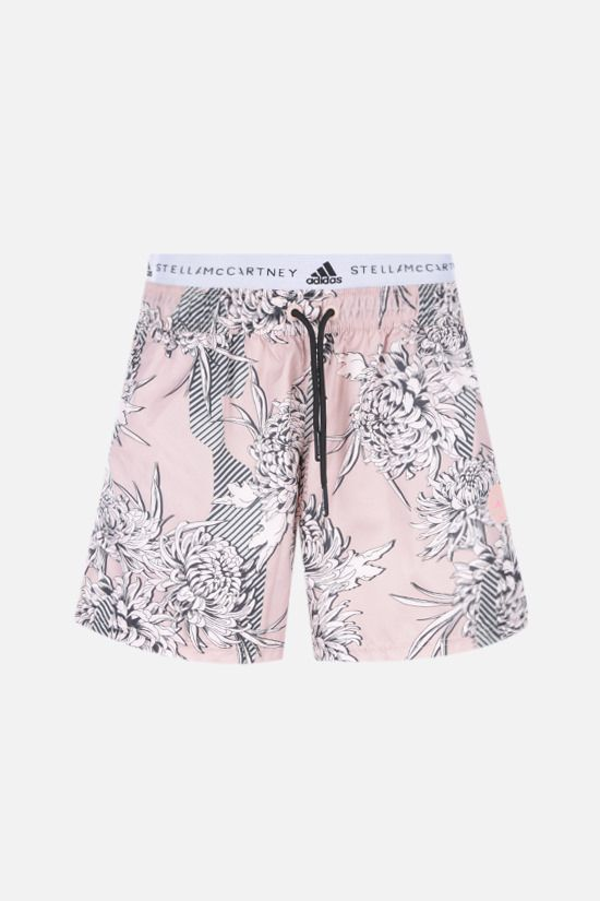 ADIDAS BY STELLA McCARTNEY: floral print technical fabric shorts Color Pink_1