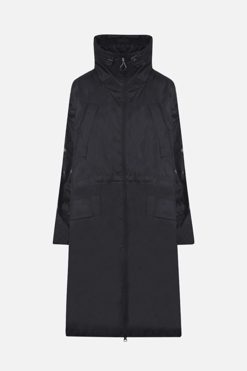 ADIDAS BY STELLA McCARTNEY: logo print oversize nylon parka Color Black_1