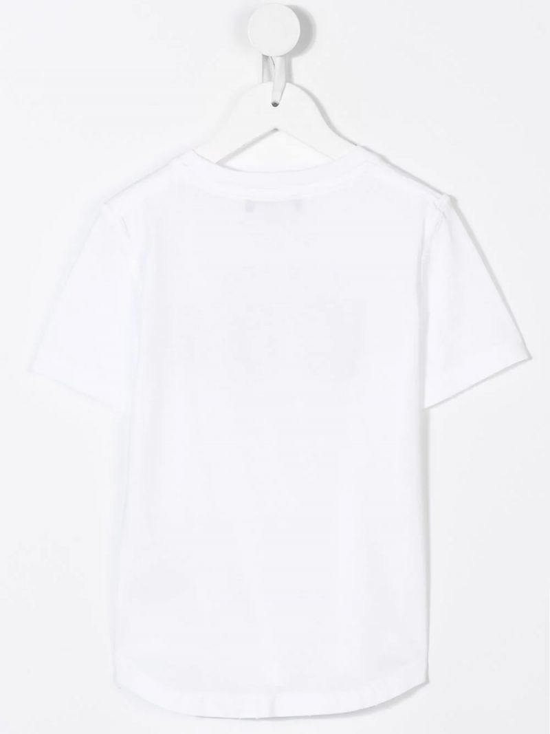 DSQUARED2 KIDS: Icon t-shirt in cotton jersey Color White_2