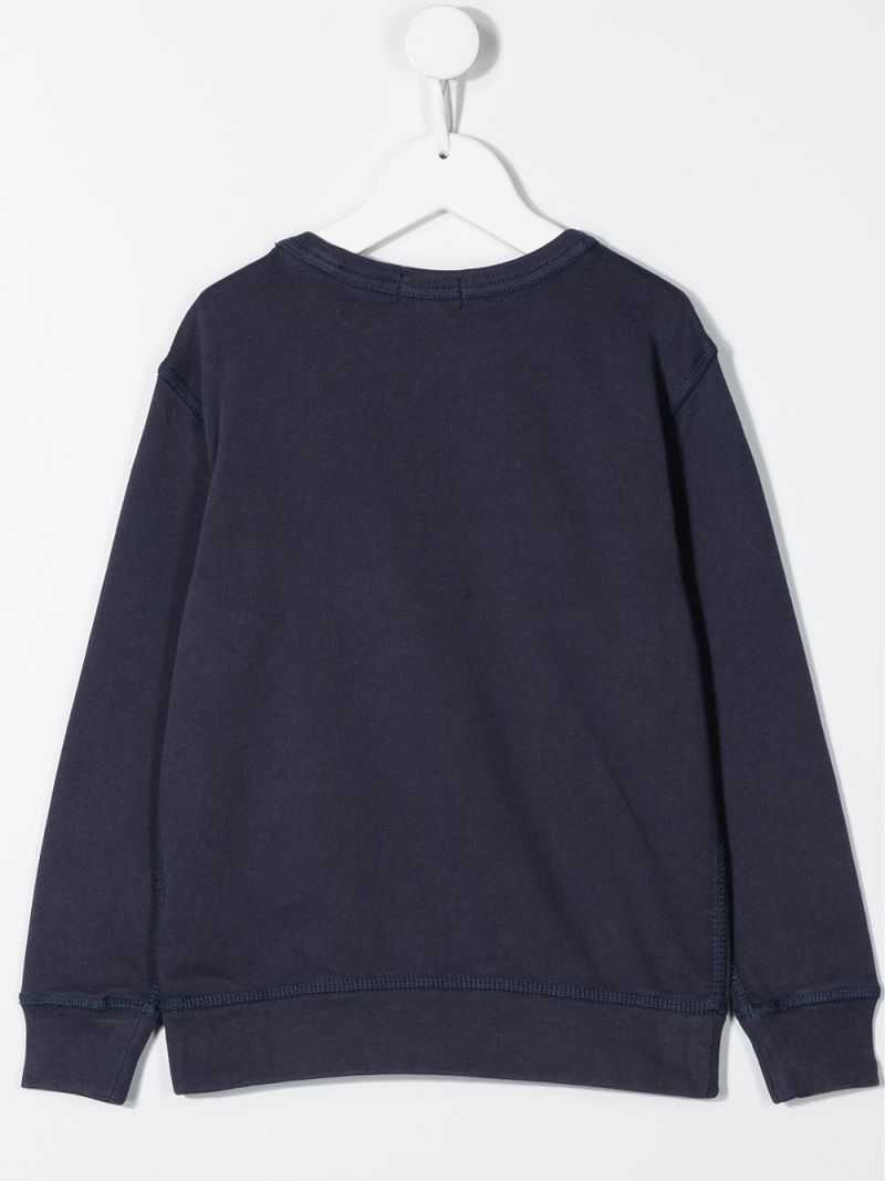 RALPH LAUREN KIDS: Polo R.L. Football print cotton sweatshirt Color Blue_2