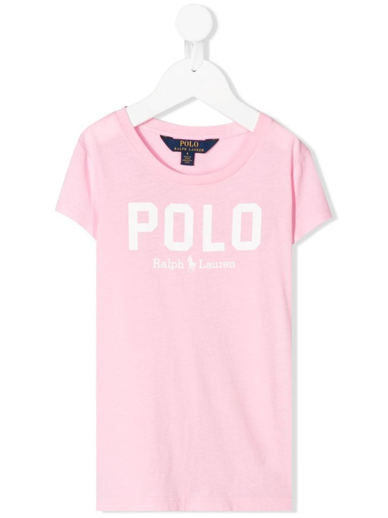 RALPH LAUREN KIDS: Polo cotton t-shirt Color Pink_1