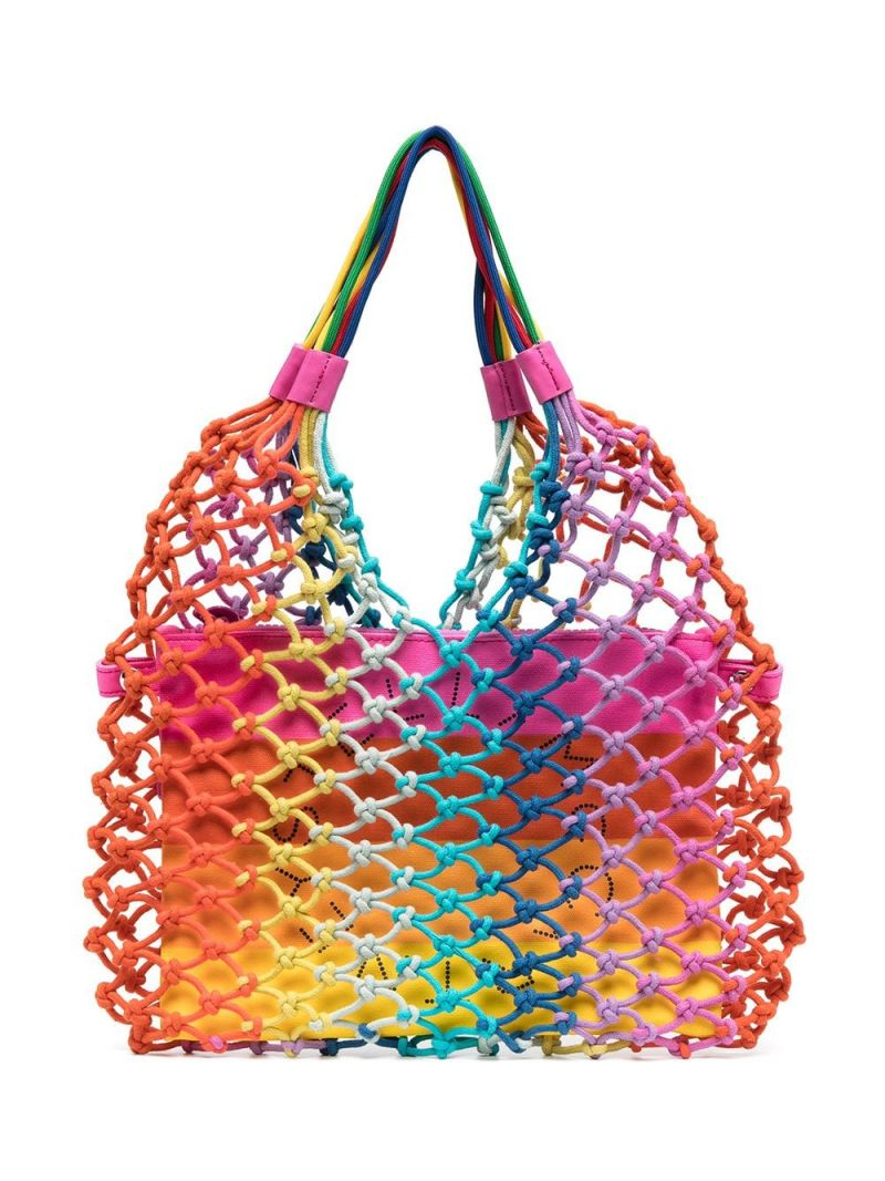 STELLA McCARTNEY KIDS: knotted rope tote bag Color Multicolor_1