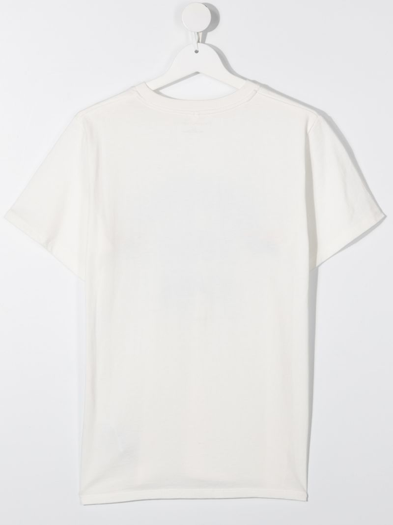 STELLA McCARTNEY KIDS: Handle with care print cotton t-shirt Color White_2