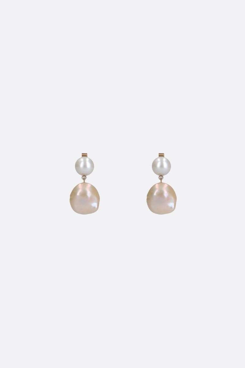 SOPHIE BILLE BRAHE: Venus earrings in yellow gold and perals Color Gold_1