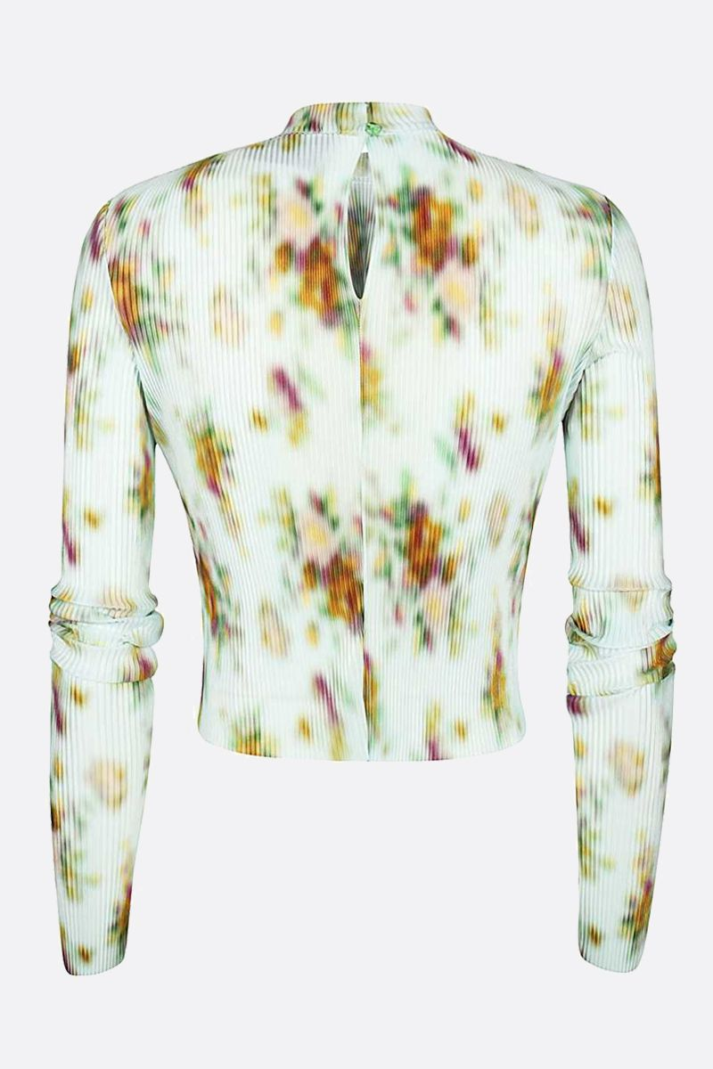 FRANKIE MORELLO: printed pleated fabric cropped top Color Multicolor_2