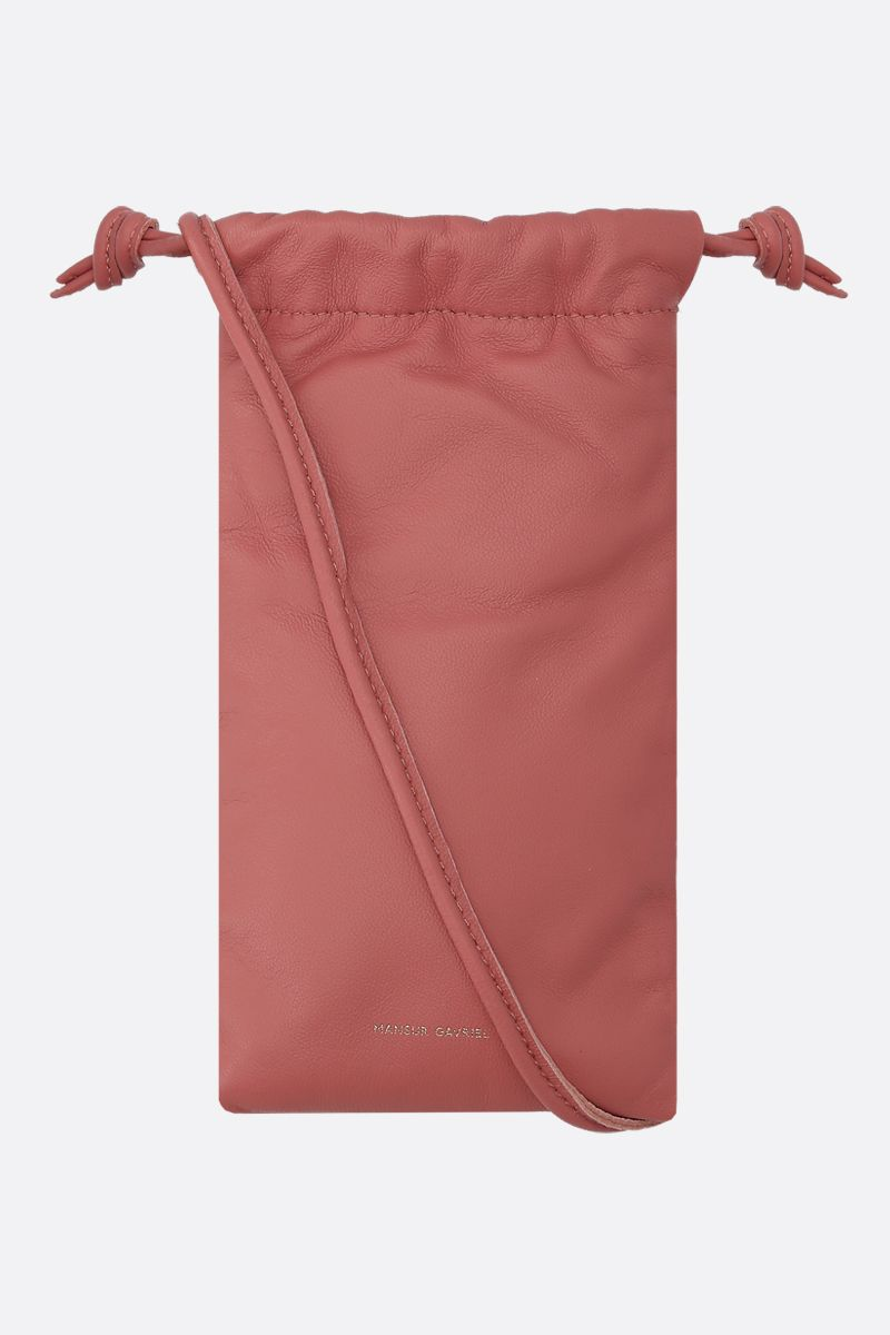 MANSUR GAVRIEL: soft nappa padded smartphone holder Color Pink_1