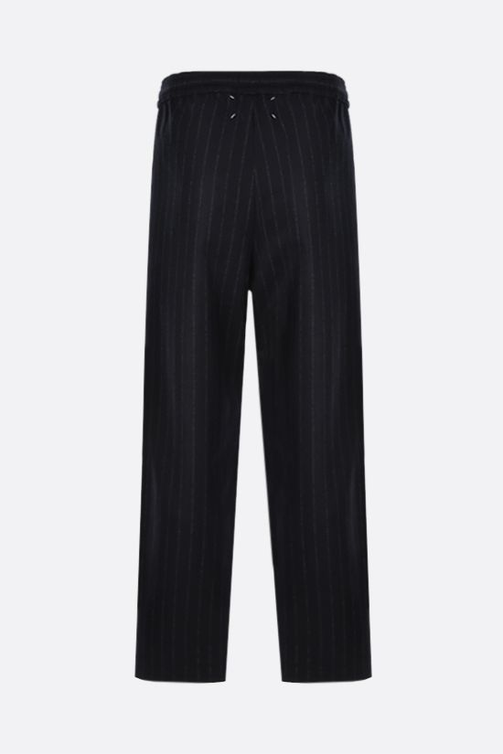 MAISON MARGIELA: pinstriped wool joggers Color Black_2