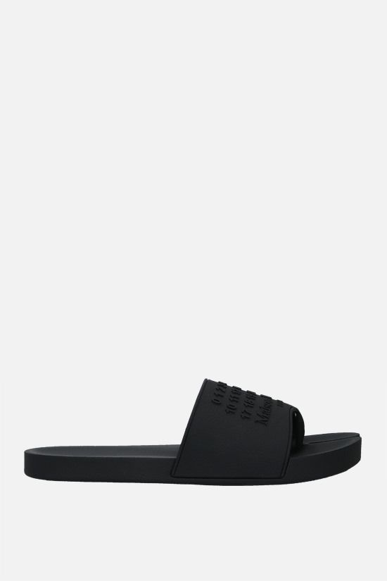 MAISON MARGIELA: Tabi rubber thong sandals Color Black_1