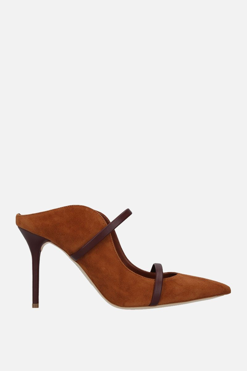 MALONE SOULIERS: Maureen suede mules Color Neutral_1
