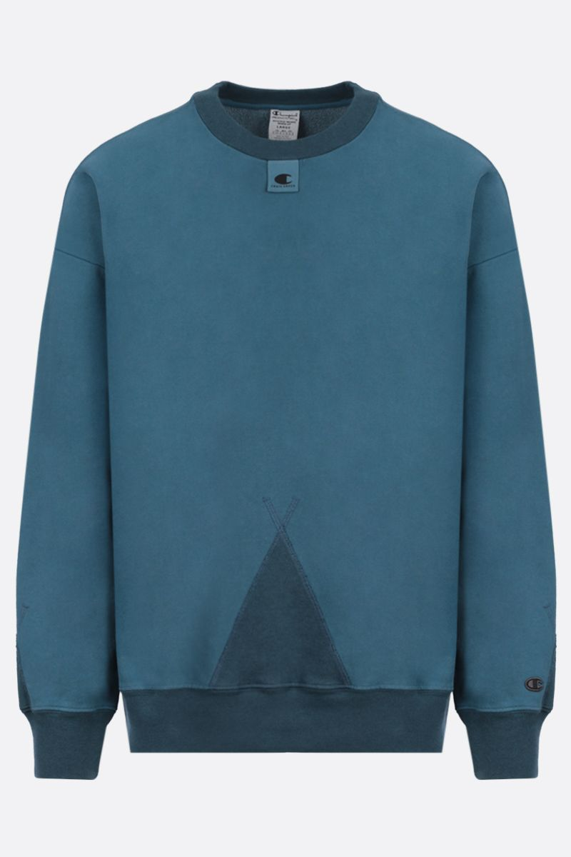 CHAMPION x CRAIG GREEN: Champion embroidered cotton blend sweatshirt Color Blue_1