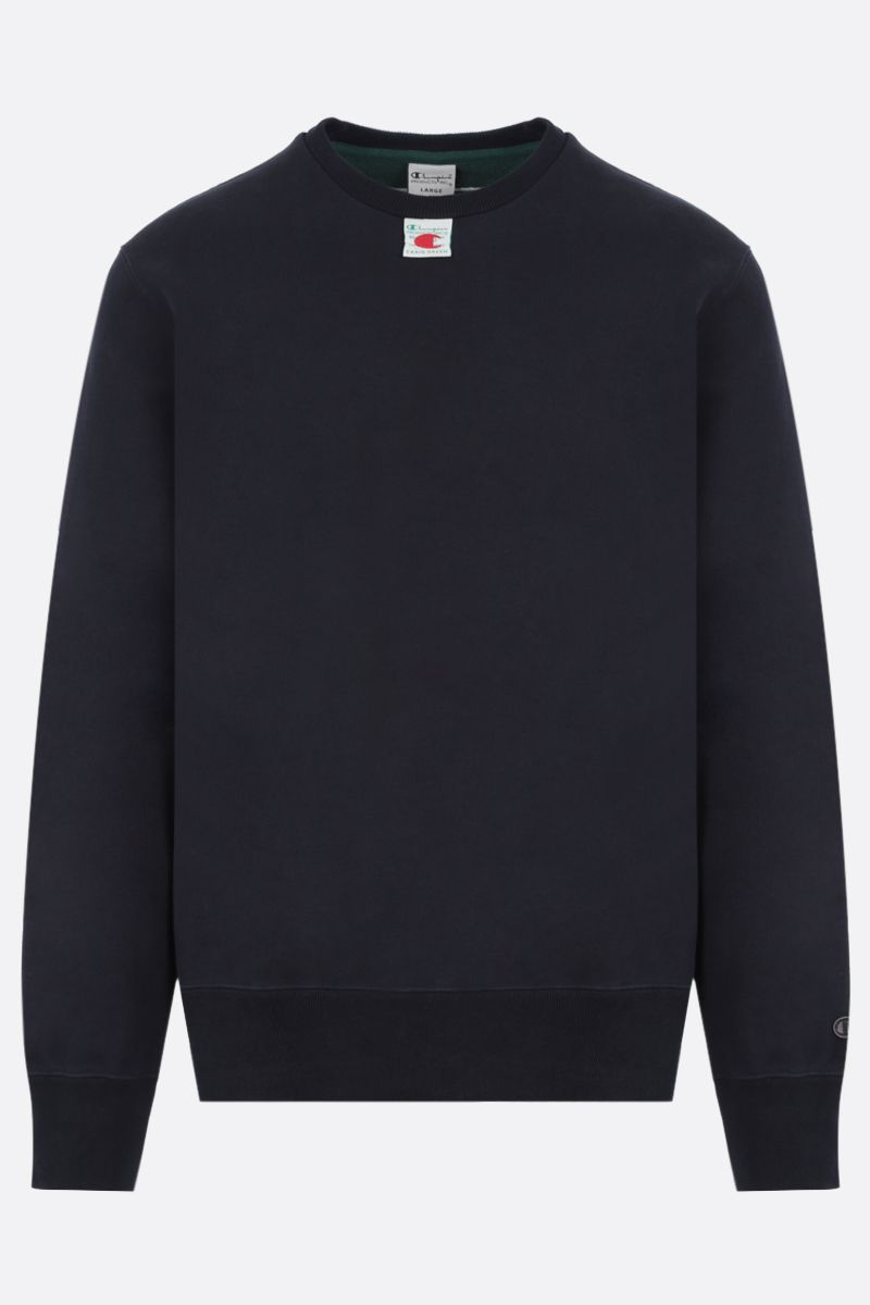 CHAMPION x CRAIG GREEN: graphic embroidery cotton blend sweatshirt Color Black_1