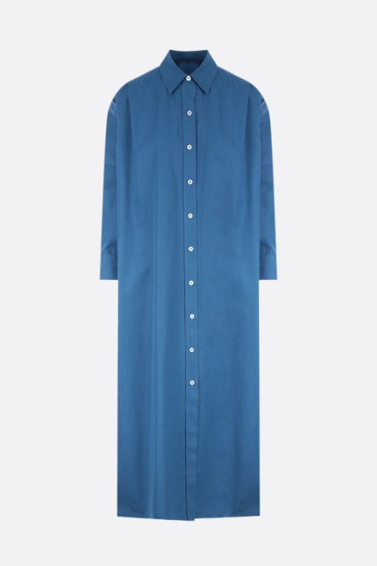 JIL SANDER: oversize poplin shirt dress Color Blue_1