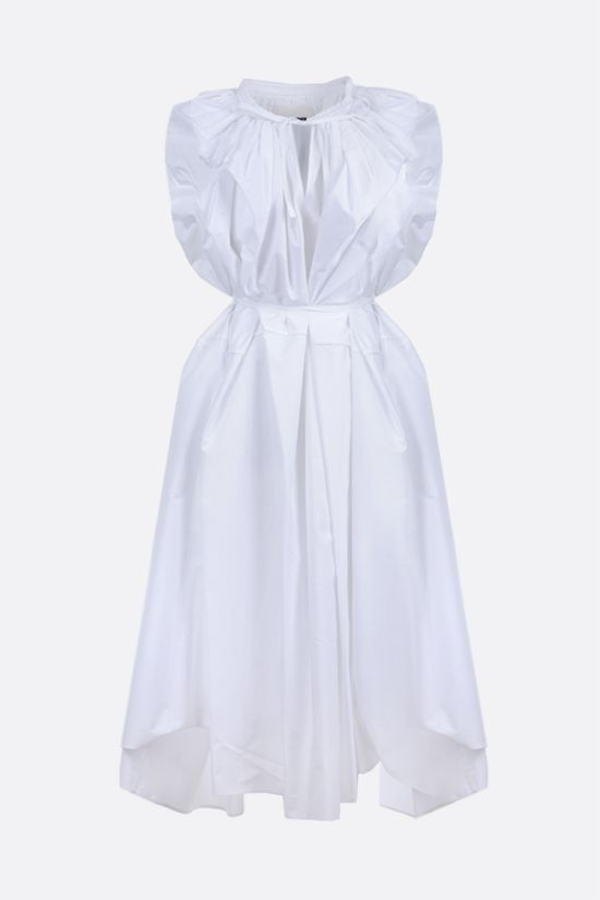 JIL SANDER: belt-detailed cotton sleeveless dress Color White_1