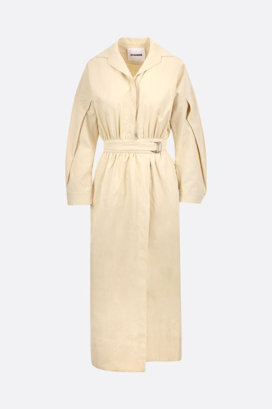 JIL SANDER: linen wrap dress Color Neutral_1
