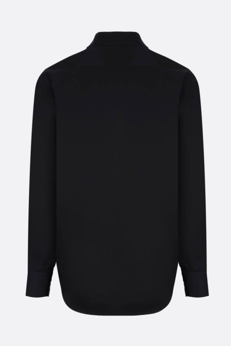 JIL SANDER: lightweight wool shirt Color Black_2