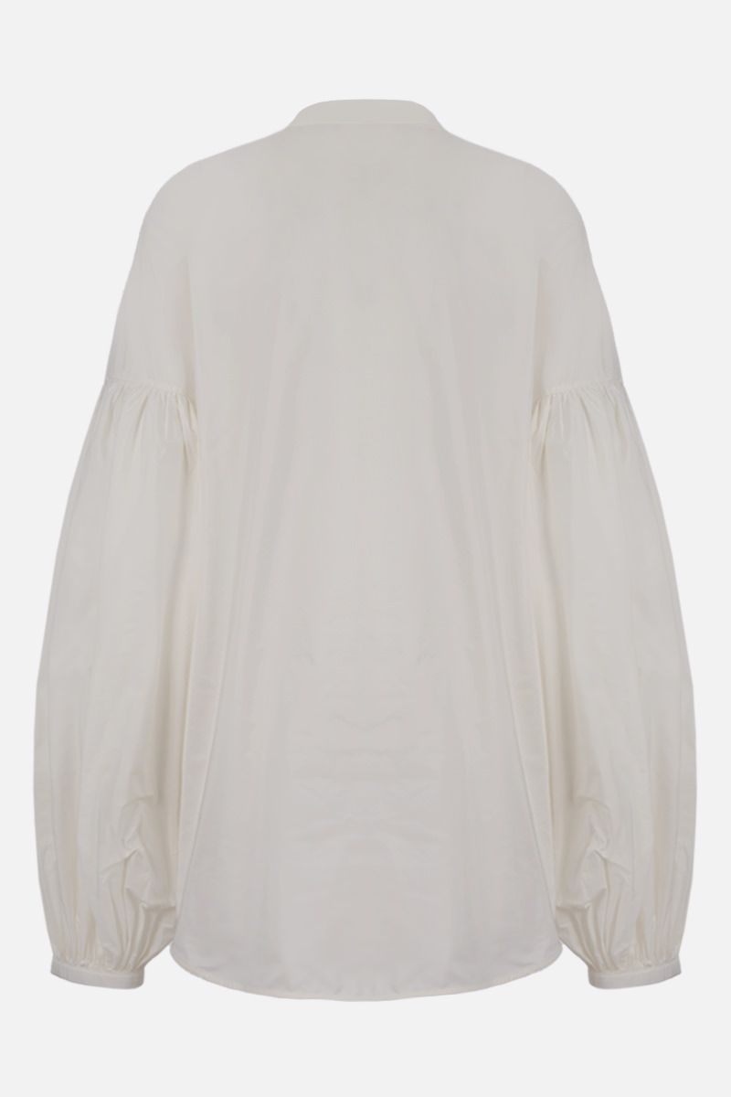 JIL SANDER: puff sleeve-detailed taffetà shirt Color White_2