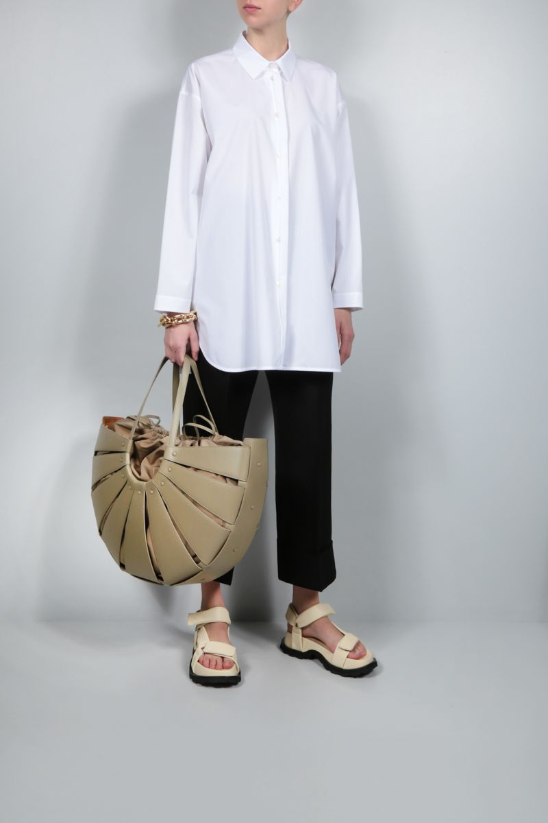 JIL SANDER: oversize poplin shirt Color White_2