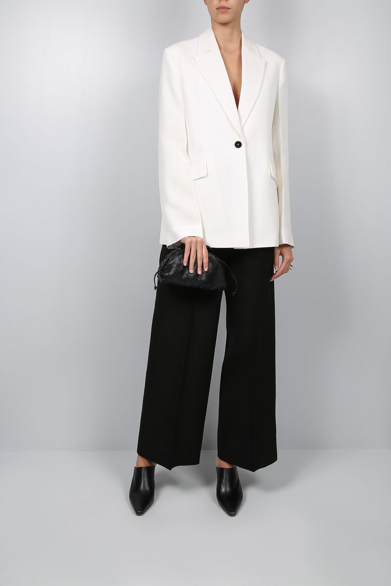JIL SANDER: Marcel single-breasted jacket in silk blend Color Neutral_2