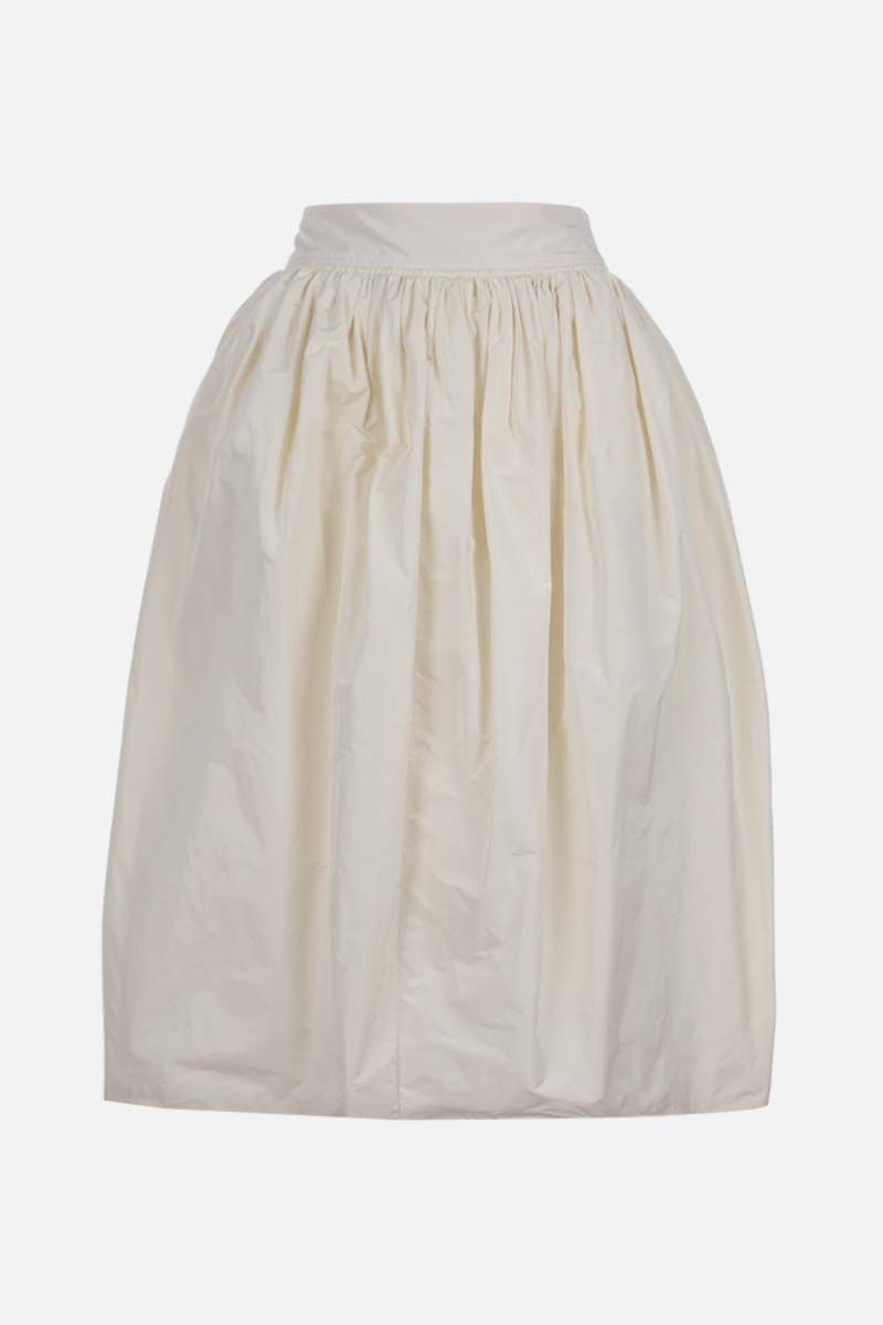 JIL SANDER: taffetà wrap skirt Color White_1
